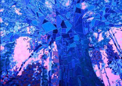 Baum Lichtfarbe blau