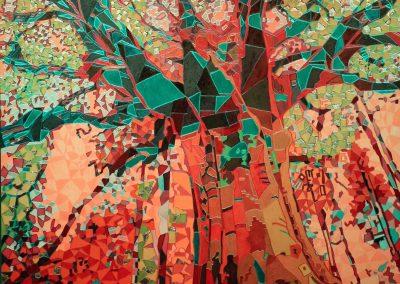 Baum Lichtfarbe gelb