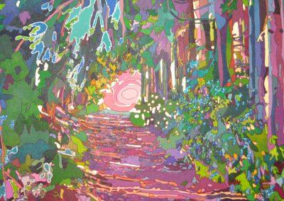 Wald bei Wolkenstein Rot