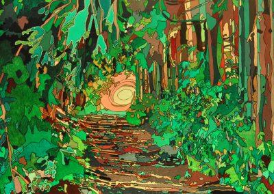 Wald bei Wolkenstein Grün