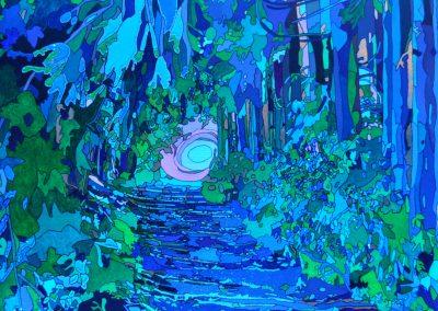 Wald bei Wolkenstein Blau